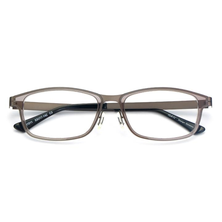 HAN尼龙不锈钢光学眼镜架-透明灰(B1011-C3)