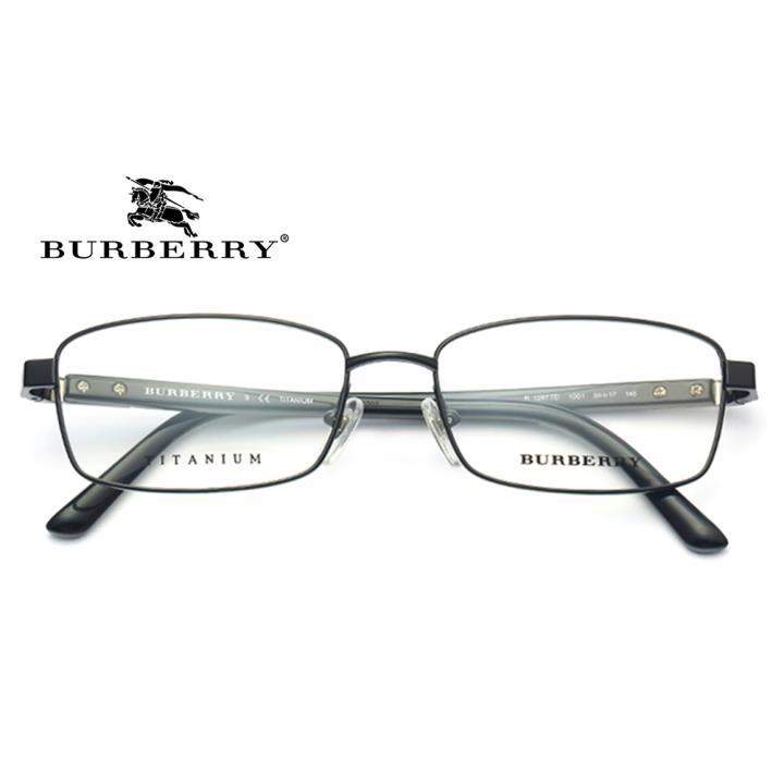 BURBERRY 钛合金光学眼镜架0BE1287TD 1001  55