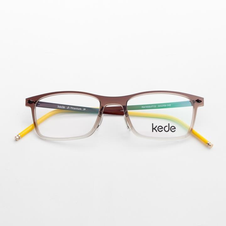 Kede时尚光学眼镜架Ke1433-F13  黄色