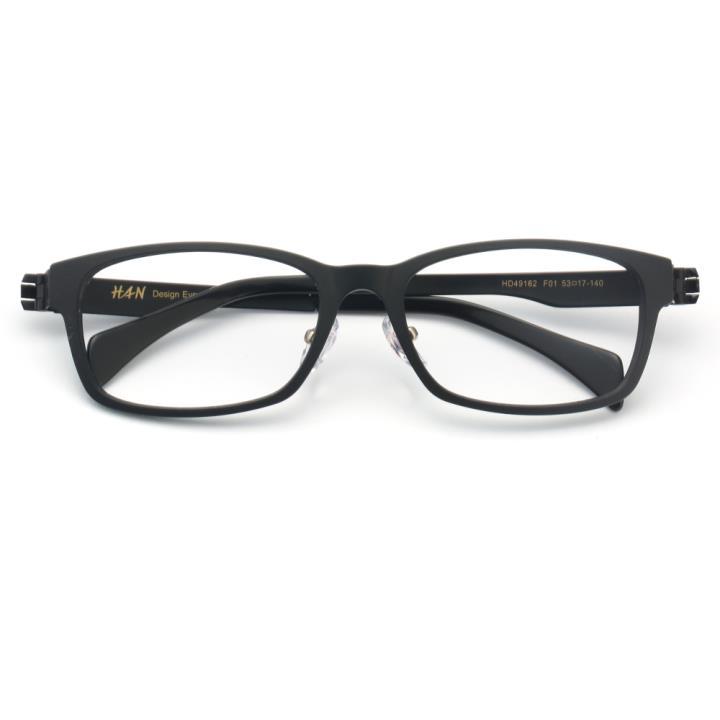 HAN TR金属光学眼镜架-哑黑色(HD49162-F01)