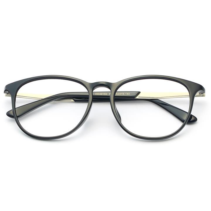 HAN MEGA-TR钛塑板材光学眼镜架-经典亮黑(HD49150-F01)