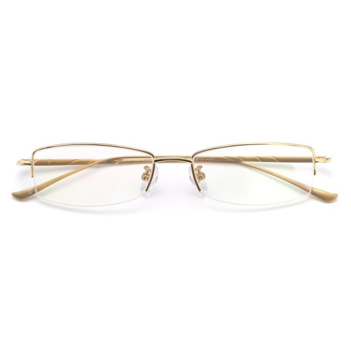 HAN纯钛光学眼镜架-金色(D-8651-C-1)
