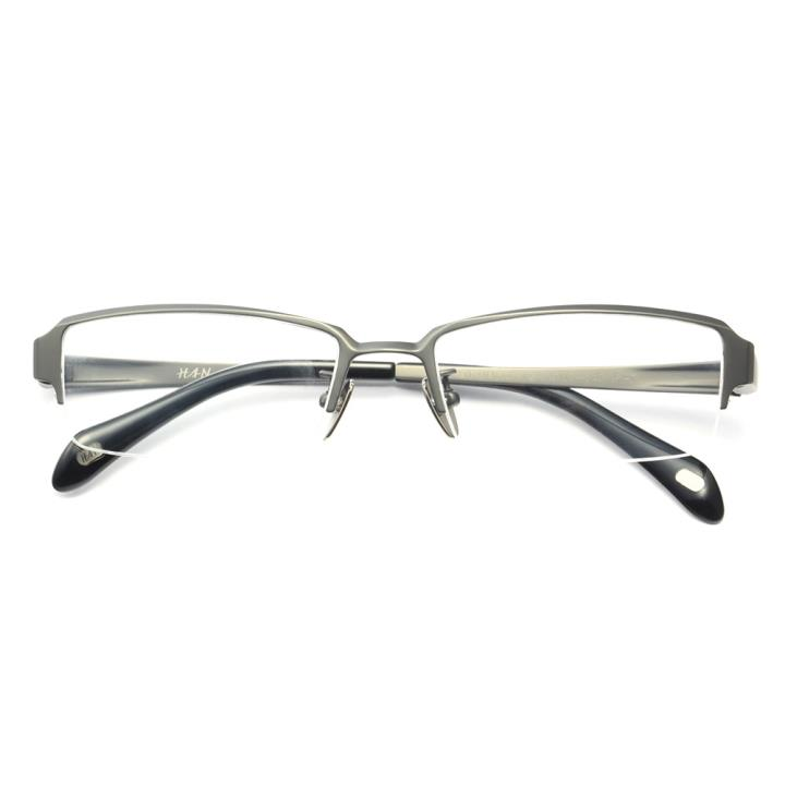 HAN纯钛光学眼镜架-哑枪大码(HD4830L-F12)大脸适用
