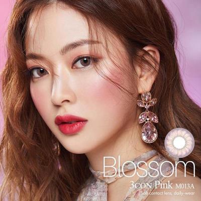OLENS Blossom 樱花3色彩色隐形眼镜月抛2片装-樱花粉色