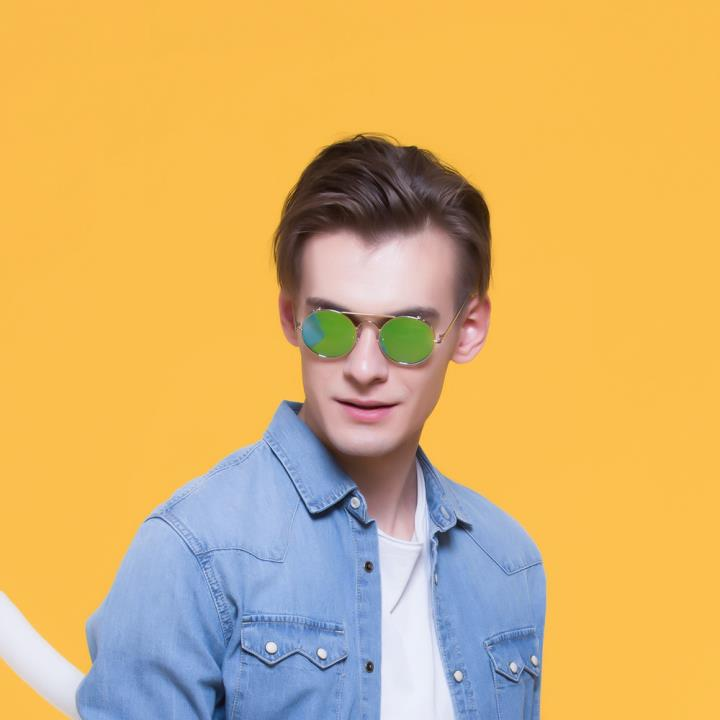 HAN RAZR-X9不锈钢偏光太阳眼镜-银框冰蓝片(HN51201 C2)