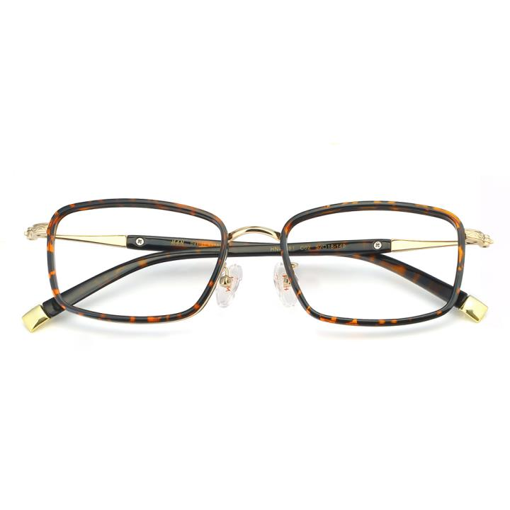 HAN合金PC光学眼镜架-复古玳瑁(HN49381-C02)