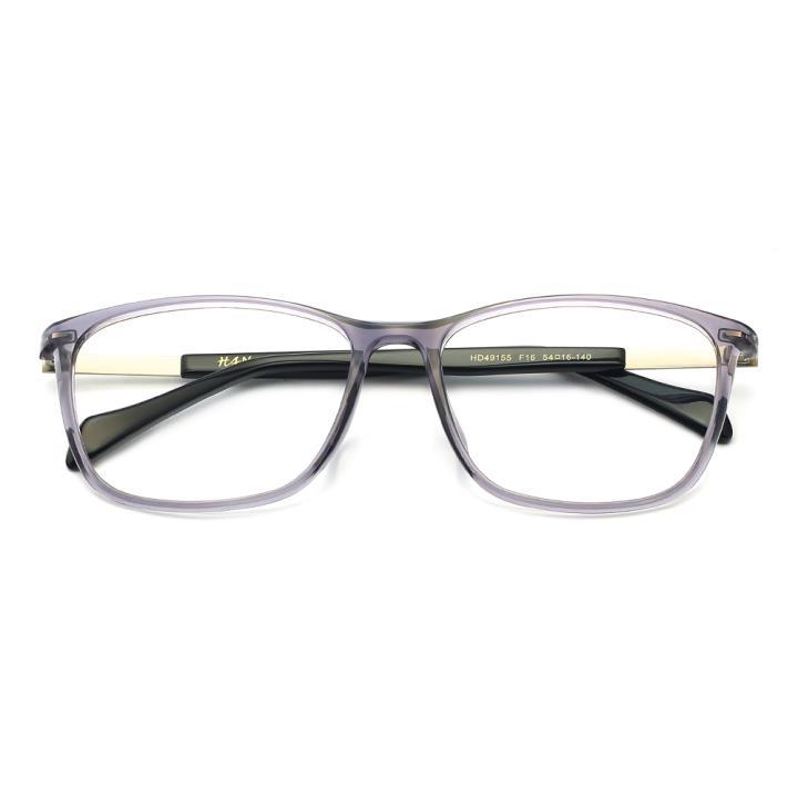HAN TR板材光学眼镜架-低调浅灰(HD49155-F16)