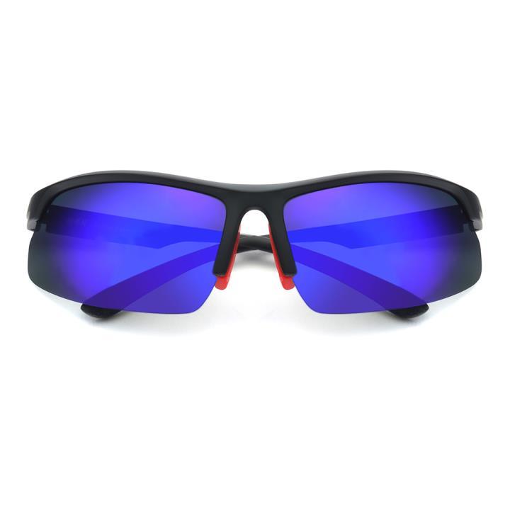 HAN TR偏光太阳镜-黑红框炫彩蓝片(HN59413-C1)