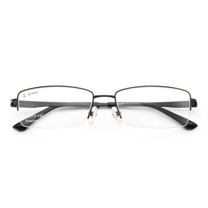 HAN纯钛光学眼镜架-经典纯黑(J81636-C2-4)