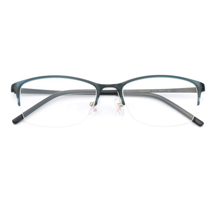 HAN MEGA-TR钛塑不锈钢光学眼镜架-清新蓝绿(HD49203-F15)