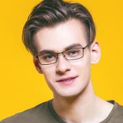 HAN时尚光学眼镜架HD4876-F01 经典纯黑