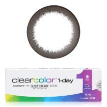 可丽博clearcolor1-day日抛彩色隐形眼镜10片装-黑色