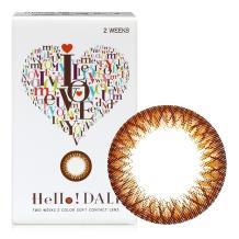 NEO Hello DALI彩色隐形眼镜双周抛6片装-棕色