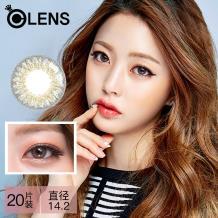 OLENS Secriss 秘瞳3色彩色隐形眼镜日抛20片装-自然灰色