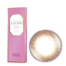 日本LALISH领丽秀彩色美瞳日抛10片装-高贵靓丽棕