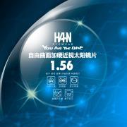 HAN 1.56自由曲面树脂加硬近视太阳镜片(黑灰)(1.553)