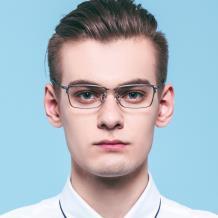 HAN純鈦光學眼鏡架-質感啞黑(HN49385-C01)