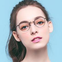 HAN純鈦光學眼鏡架-亮棕(HN49360-C02)