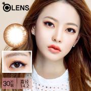 OLENS Secriss 秘瞳系列彩色隱形眼鏡日拋30片裝-溫柔棕色