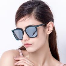 HAN SUNGLASSES TR偏光太阳眼镜-蓝框水银片(HN55046 C3/M)(MD)