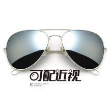 HAN不銹鋼太陽眼鏡架-銀框(JK59312L-C2)大號