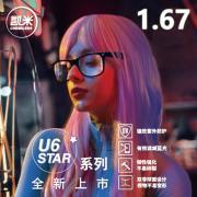 凯米 1.60非球面BRC蓝光滤减阅读护目镜片