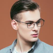 HAN COLLECTION纯钛光学眼镜架-哑枪色(HN43010 C2)