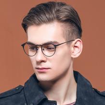 HAN纯钛光学眼镜架-经典黑色(HN49373-C01)