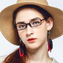 HAN 塑钢时尚光学眼镜架-优雅酒红(HN49403-C3)