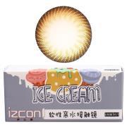 伊厶康冰淇淋双色系列彩色半年抛隐形眼镜一片装棕色