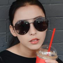 HAN SUNGLASSES不锈钢防UV太阳眼镜-黑框黑灰片(HN52017L C1)