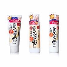 SANA/莎娜 豆乳美肌洗面奶150ML+滋润化妆水200ML+乳液150ML 海淘专享