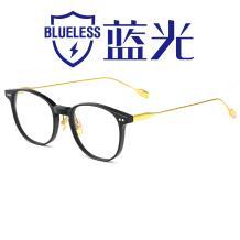 HAN板材光学眼镜架-经典纯黑(HD49300-F01)