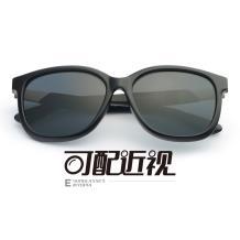 HAN SUNGLASSES PC太阳眼镜架-亮黑近视框(HN55067L C6/L)(可配近视镜片)