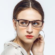 HAN 塑鋼時尚光學眼鏡架-優雅酒紅(HN49411-C3)