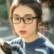 HAN MEGA-TR钛塑光学眼镜架-亮黑色(HD49325-F01)