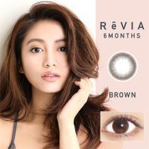 日本ReVIA蕾美彩色半年抛1片装-自然棕