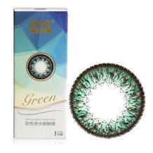 KKR 舒透氧彩色隐形眼镜半年抛1片装-炫氧美目(绿色)