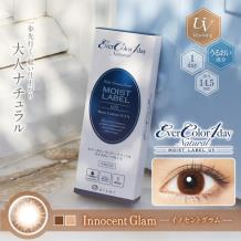 Ever Color 1day Natural Mosit Label UV保湿彩色隐形亚博竞猜日抛型20片装-Innocent Glam