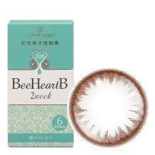 日本BeeHeartB蜜心妍2week美瞳双周抛6片装-可爱红棕