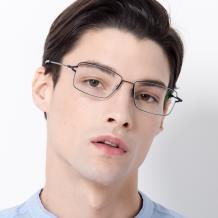 HAN COLLECTION金属光学眼镜架-哑黑(HN41124M C01)