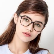 HAN MEGA-TR钛塑近视眼镜架-玳瑁色(HD3102-F03)