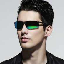 HAN SUNGLASSES铝镁合金偏光运动太阳眼镜-枪框绿片(HN51013L C3)