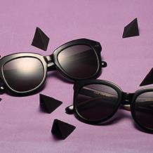 HAN RAZR-X9板材防UV太阳眼镜-黑框黑灰片(HD59210-S01)