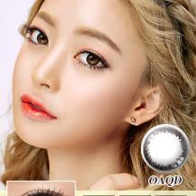 迷卡韩流时尚系列年抛一片装OAQD-睛彩灰(近效期到19年4/6月)
