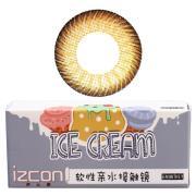 伊厶康冰淇淋三色系列彩色半年抛隐形眼镜一片装棕色