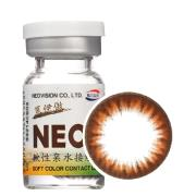 NEO蒽伊傲Ⅱ代年抛彩色隐形眼镜1片装-N934棕色