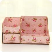 桌面抽屉式木质化妆收纳盒-颜色随机(活动专享)