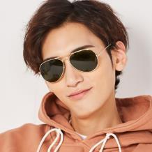 HAN RAZR-X9不锈钢防UV太阳眼镜-金框绿色片(HN52015M-C1)