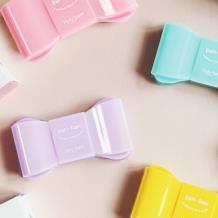 Holy Nara Papi少女蝴蝶结隐形眼镜护理盒-粉色